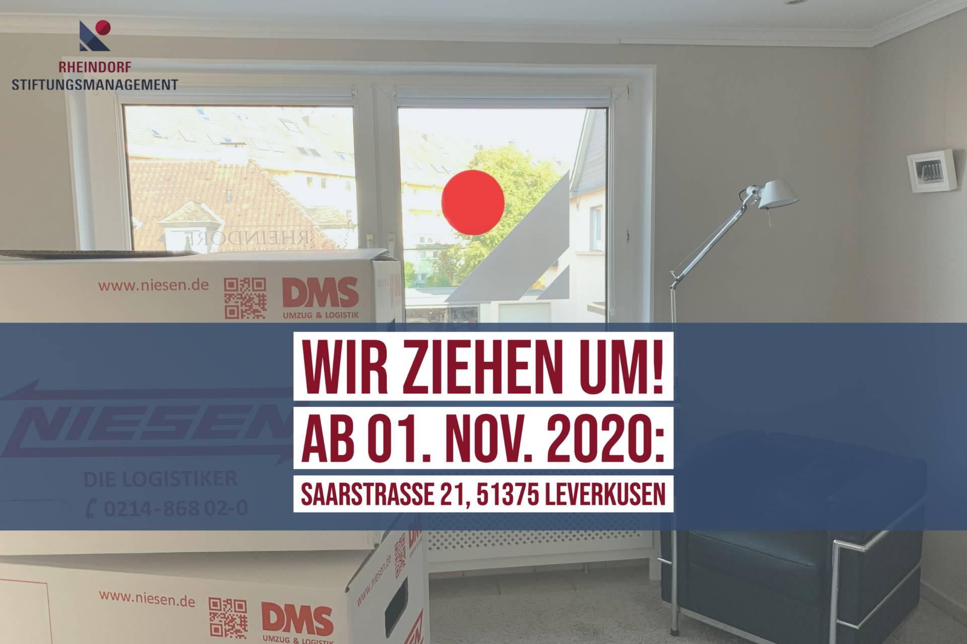 Ab 1. November 2020: Rheindorf Stiftungsmanagement zieht nach Leverkusen